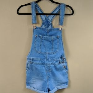 Maurices Denim Short Overalls Sz Small
